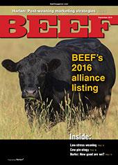 September BEEF Magazine cover