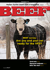 December BEEF Magazine cover
